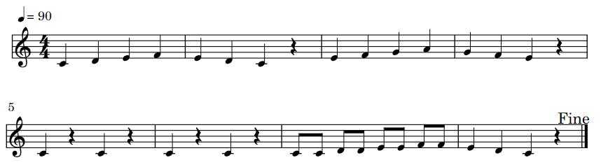 カエルのうた 楽譜