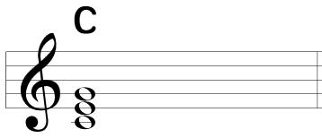 C(ドミソ)の楽譜