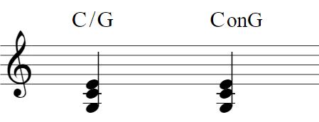 楽譜:C/G・ConG(ソドミ)