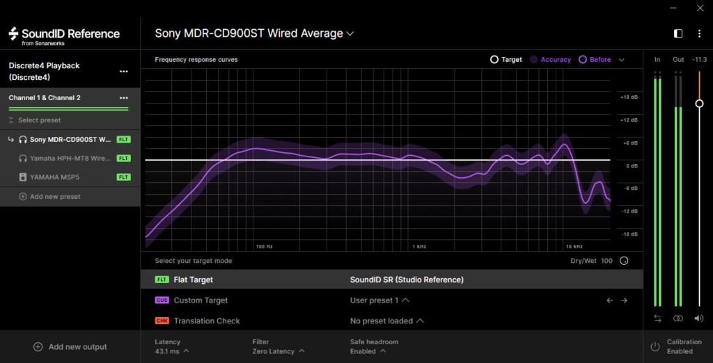 SoundID Reference分析画像:SONY MDR-CD900ST