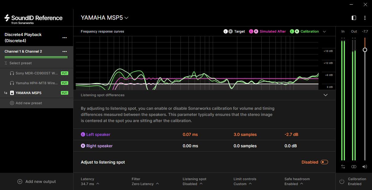 SoundID Referenceスピーカー分析画像
