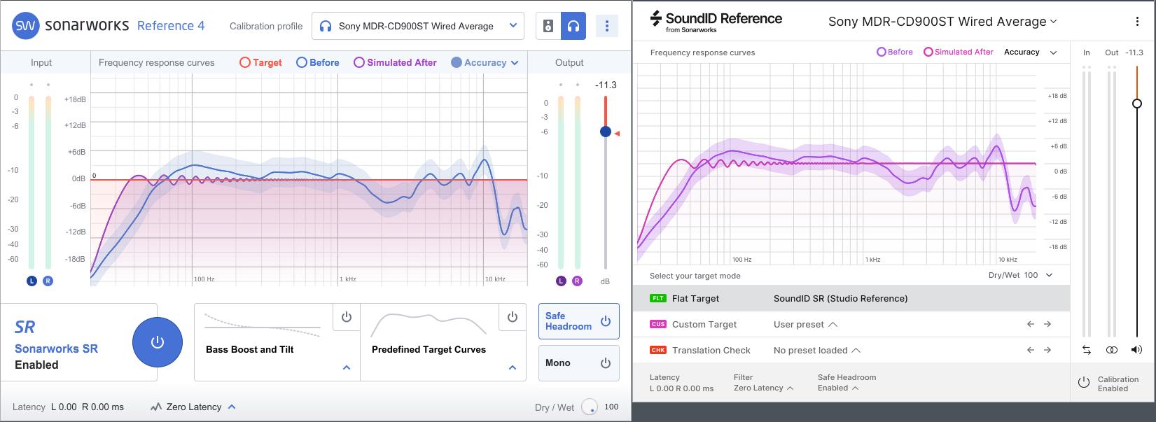 左:前作Reference4 右:SoundID Reference